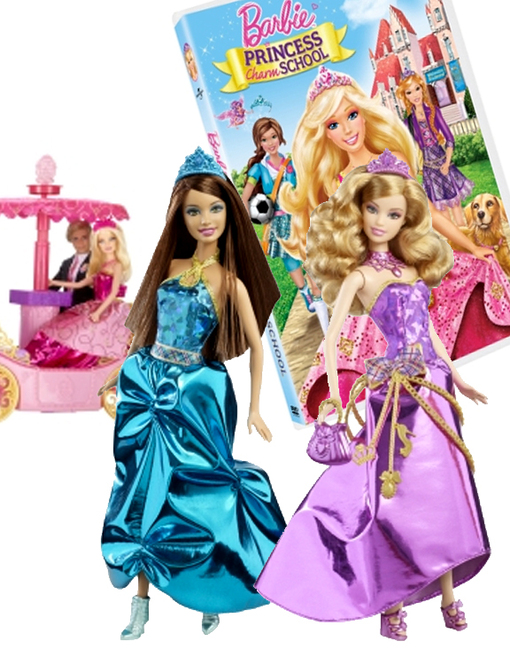 Barbie Princess Charm School is a Mattel-infused Hogwarts for the fashion-conscious. This new line of dolls, games, and DVDs sucks little girls into a land ...