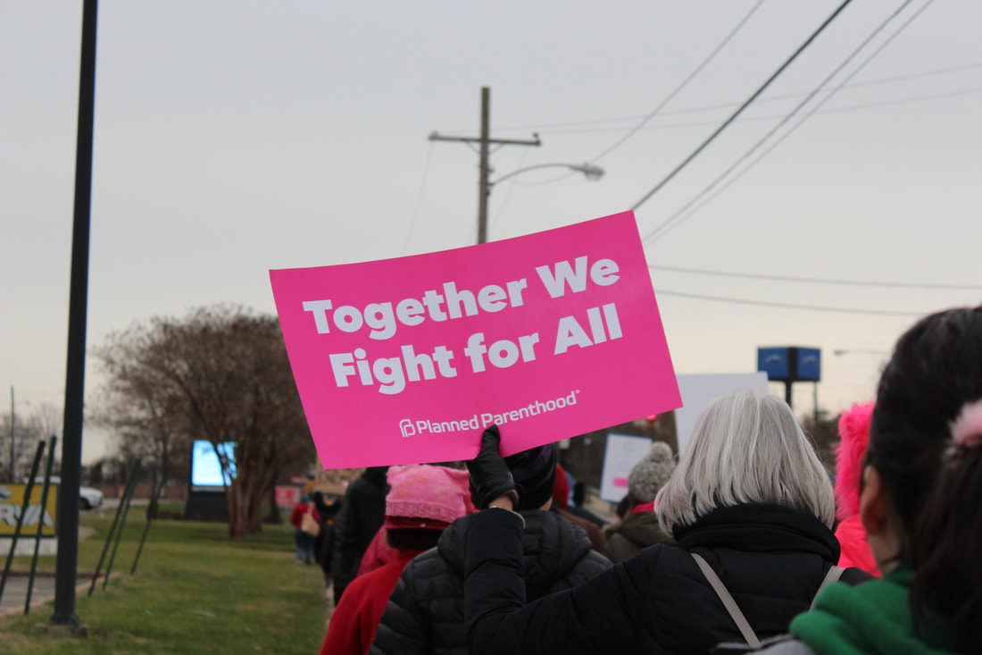 Women's rights march in Richmond, Virginia on Jan. 12, 2019